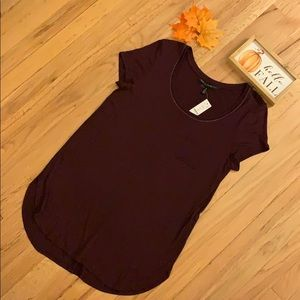 🍁 WHBM NWT! Tunic Tee, Cabernet, Medium